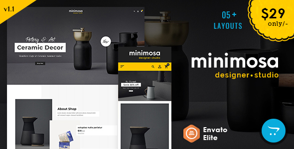 minimosa - Art & Design Studio - Opencart Multi purpose Responsive Theme