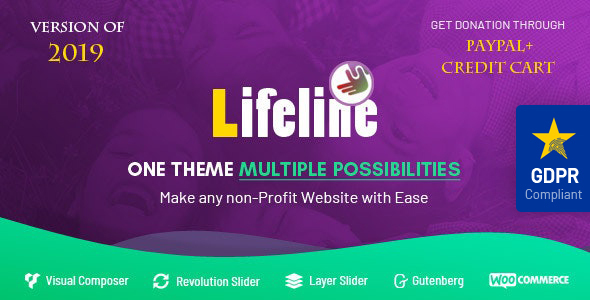 Lifeline - NGO, Fund Raising and Charity WordPress Theme