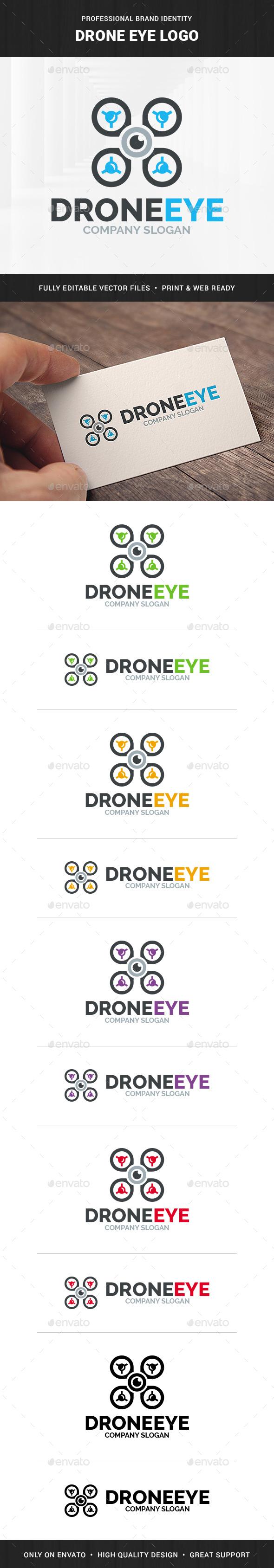 Drone Eye Logo Template