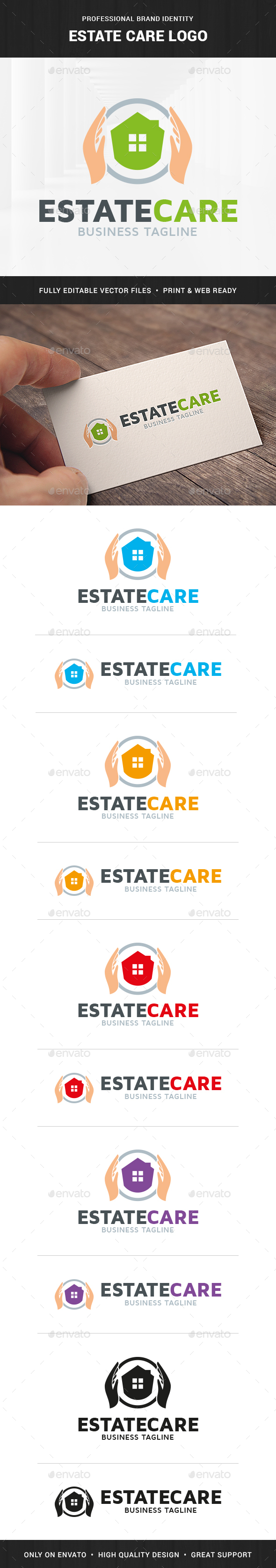 Estate Care Logo Template