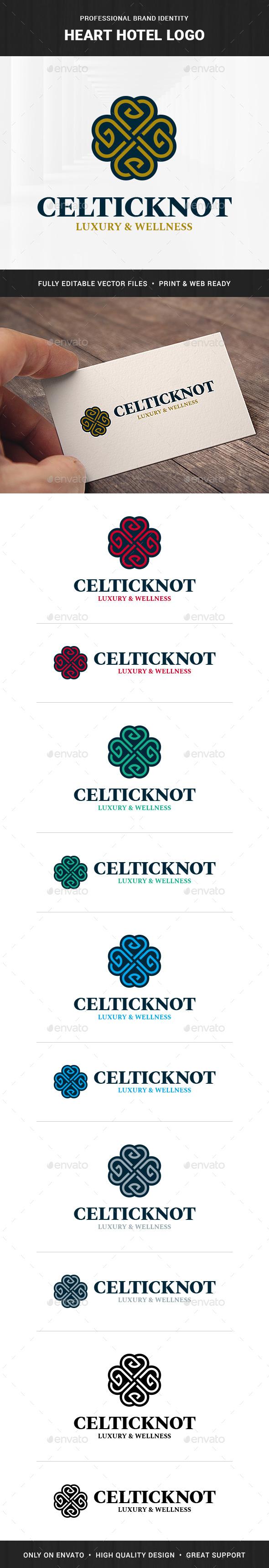 Heart Hotel Logo Template