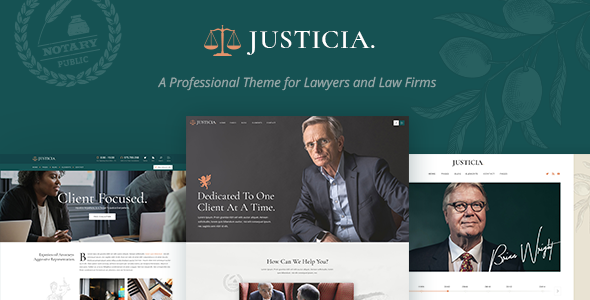Notary Website Templates from ThemeForest