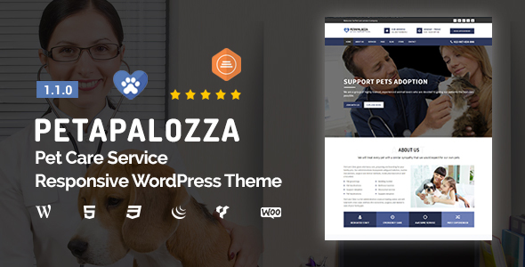 Petapalozza - Pet Care Service WordPress Theme
