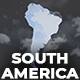 Map of South America with Countries - Southern America Map Kit - VideoHive Item for Sale