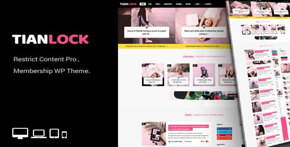 TianLock WP - Restrict Content Pro / Membership WordPress Theme