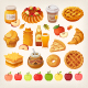 Vector Food Made from Apples - GraphicRiver Item for Sale