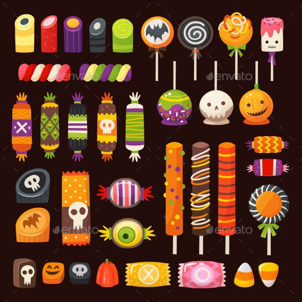Halloween Candy Vector Images
