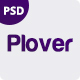 Plover - Agency One Page PSD Template - ThemeForest Item for Sale