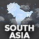 Map of South Asia with Countries - Southern Asia Map Kit - VideoHive Item for Sale