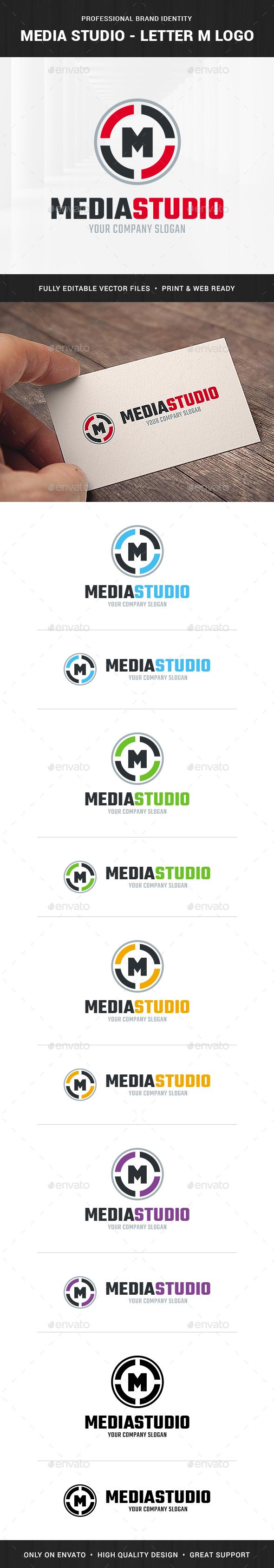 Media Studio - Letter M Logo