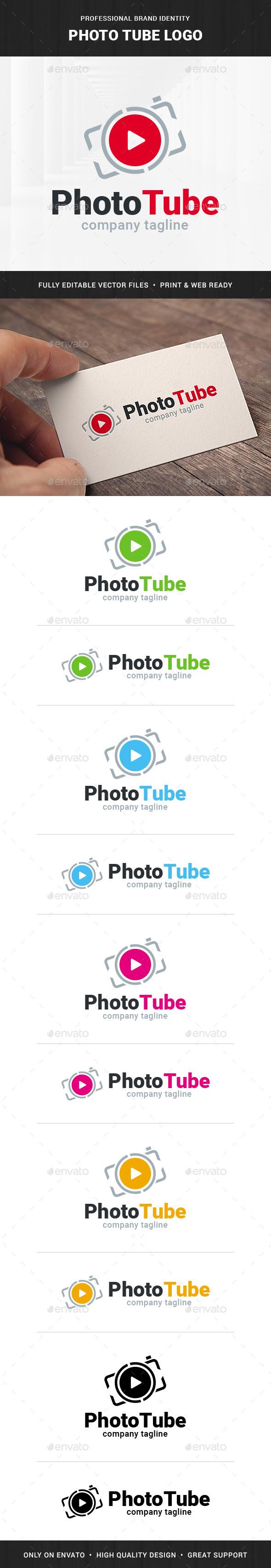 Photo Tube Logo Template