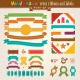 Vector Hand Draw Set Of Retro Ribbons And Labels - GraphicRiver Item for Sale
