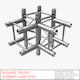 Square Truss Corner Junction 44 - 3DOcean Item for Sale