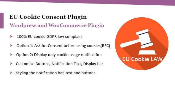 WooCommerce EU Cookie Consent Plugin, Wordpress GDPR Compliance