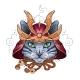 Samurai Cat in a Combat Helmet - GraphicRiver Item for Sale