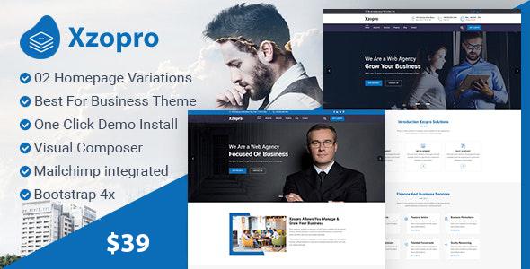 Xzopro - Finance And Business WordPress Theme