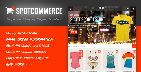 SpotCommerce - Blogger Shopping Template