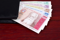 Latvian money in the black wallet - PhotoDune Item for Sale