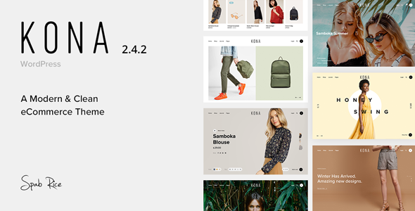 Kona - Modern & Clean eCommerce WordPress Theme