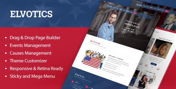 Elvotics - Political WordPress Theme