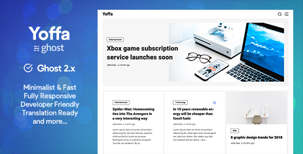 Yoffa - a Minimal & Lightweight Ghost Theme
