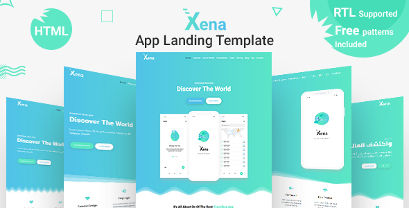 Xena - Mobile App Landing Page HTML Template