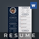 Modern Resume - Freddie - - GraphicRiver Item for Sale