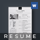 Simple Resume - Wachmen - - GraphicRiver Item for Sale