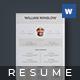 Resume - Willian - - GraphicRiver Item for Sale