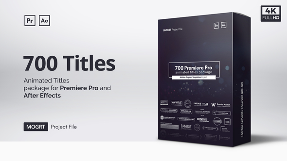 Adobe Premiere Pro Motion Graphic Templates, Presets & Effects
