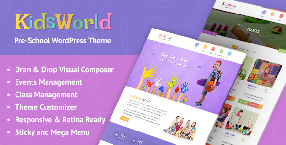 KidsWorld - Kindergarten and Child Care WordPress Theme