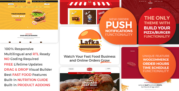 Lafka - WooCommerce Theme for Burger Pizza Fast Food Delivery & Restaurant