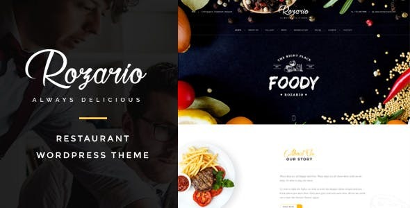 Rozario - Restaurant & Food WordPress Theme