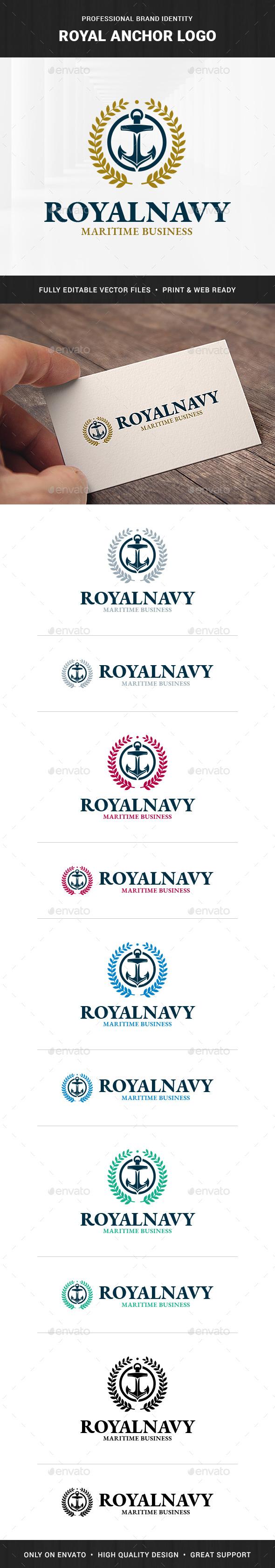 Royal Anchor Logo Template