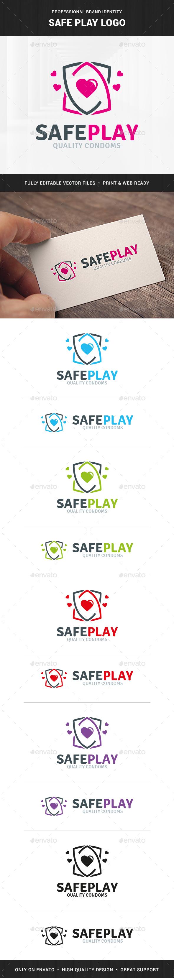 Safe Play Logo Template