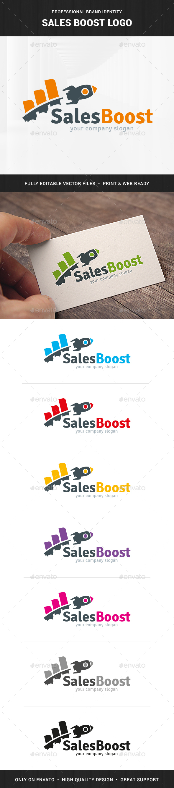 Sales Boost Logo Template