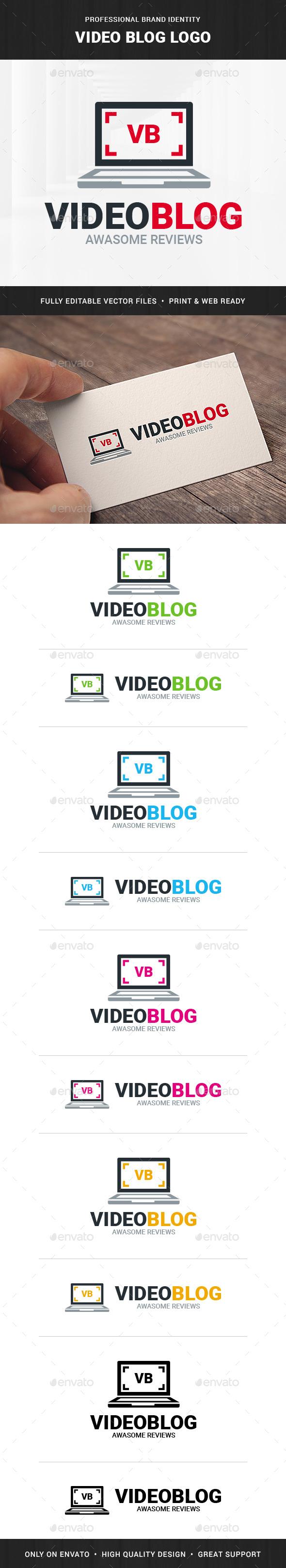Video Blog - Laptop Logo