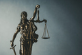 Brass statue of Justice holding scales and sword - PhotoDune Item for Sale