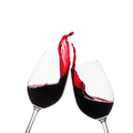Two clinking glasses of red wine in a toast - PhotoDune Item for Sale