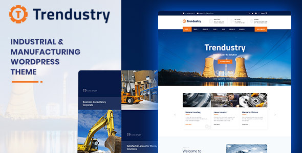Trendustry - Industrial & Manufacturing WordPress Theme