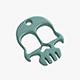 Knuckles skull keychain - 3DOcean Item for Sale
