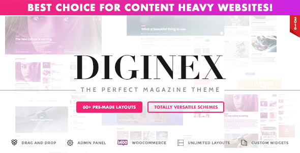Diginex - Magazine, Blog, News and Viral WordPress Theme