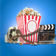 Movie Night Cinematic 3D Objects - GraphicRiver Item for Sale