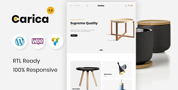 Carica - Furniture Handmade Shop WooCommerce Theme