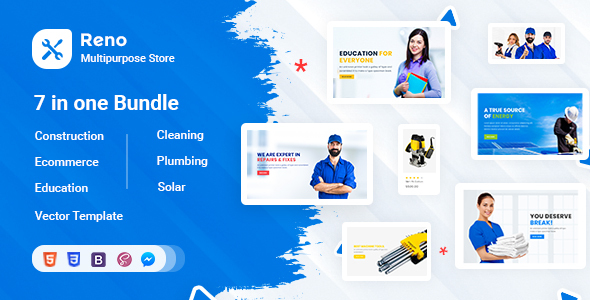 Reno - Tools Store - Construction - Education - Cleaning - Plumbing Template
