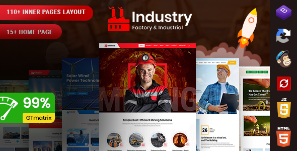 Industry - Factory & Industrial Template + RTL Ready