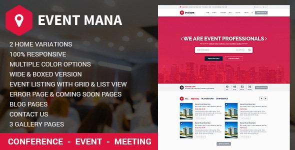 Event Management WordPress Theme