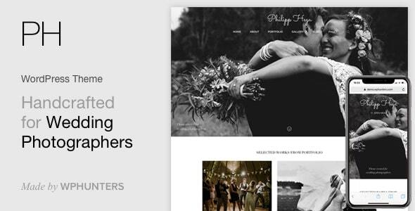 PH - Wedding Photography Portfolio WordPress Theme