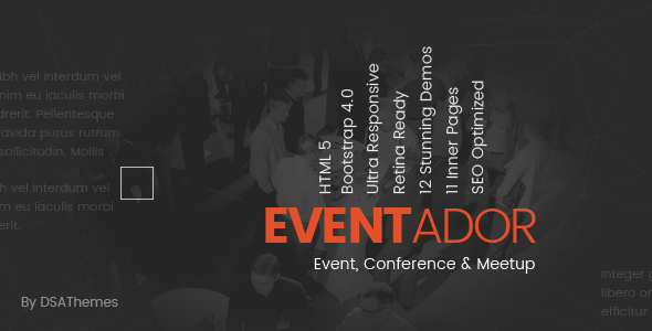 EventAdor Event Conference Marketing WordPress Theme