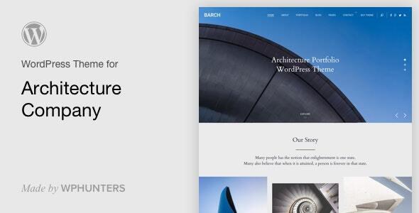 Barch - Architecture Portfolio WordPress Theme